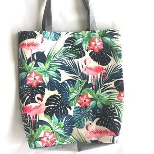 Handbags - Flamingo Tropical Tote Bag